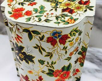 Vintage Daher Floral English Tin