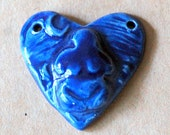 Goddess Heart in Rich Blue - Blessingway bead with Earth Mother Venus