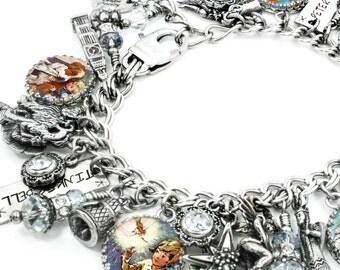 Fairies Jewelry, Pixie Bracelet, Fairies Bracelets, Fairies Charm Bracelet, Pixie Jewelry, Peter Pan Bracelet