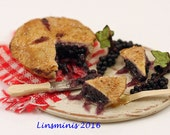 RESERVED ** 12th scale Miniature Blackcurrant Pie **RESERVED FOR Minteriors
