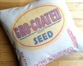 18 Inch Grain Sack Pillow - Red Clover Seed