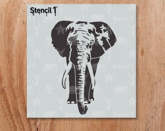 Elephant stencil | Ets...