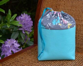 Flower Knitting Project Bag