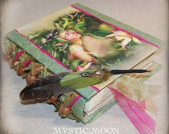 Book of Shadows / Wiccan / Greenman / Acorn / Pagan / Journal / Personalized Journal / Spell Book / Prayer Book / BOS / Spellbook/ Quill Pen