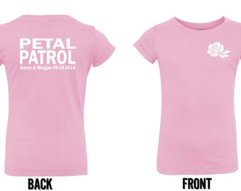 Personalized Petal Patrol shirt flower girl tshirt  tee flower girl shirt
