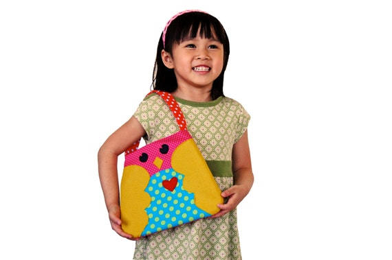 Cute owl purse, Toddler purse, Little girl purse, Girl handbag, Owl girl purse, Child handbag, Small fabric purse, Bird purse, Owl handbag