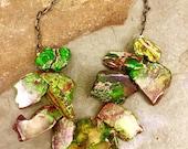 Green sediment jasper necklace