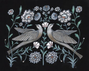 Grey Doves - Print