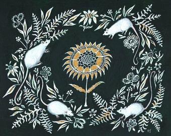 White Mice - Print