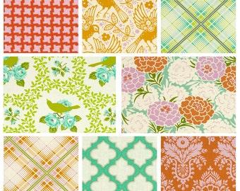BUNDLE - Up Parasol - FreeSpirit Fabrics - Heather Bailey - Summer Bright Flowers Birds