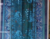 The Peacock Portal - Bohemian Gypsy Door Curtain