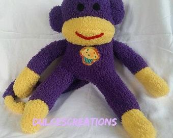 Dulcea the sock monkey ready to ship