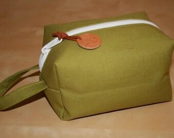 Green Canvas Dopp Kit