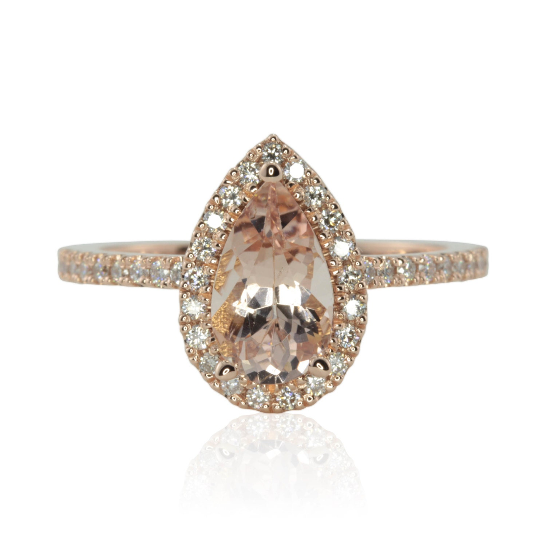 Fresh Morganite Diamond Engagement Ring Ring Ideas