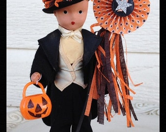Halloween Decoration  Vintage Nancy Ann Doll Halloween Ornament   TVAT