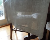 """Taupe Linen Table Runner, 14.5"""" x 72"""", Modern Country, Table Linens"""
