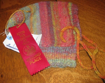 Hand Spun Hat, Hand Knitted Hat,Prize Winning Hat, Winter Hat, Warm Hat, Barn Hat