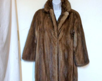SALE Sable Coat 90s Size 12