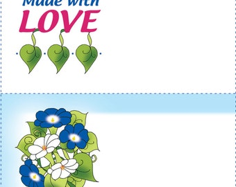 Quilt Labels - Morning Glory & Love
