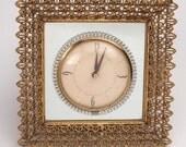 Retro Mirrored Wall Clock