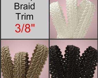 "10 Yards - 3/8"" - Gimp Braid Trim, Your Choice, 3/8 inch"