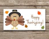 Thanksgiving Treat Bag Topper, Turkey Treat Bag Topper, Happy Thanksgiving, Fall Treat Bag Topper, Thanksgiving Label, INSTANT DOWNLOAD