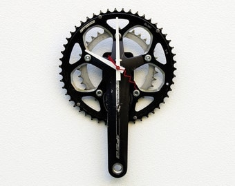 Recycled Bike Crank Arm Clock, Bike gear pedal clock, birthday gift, Bicycle gift for her, bike gift for her, pedal clock, reuse bike clock