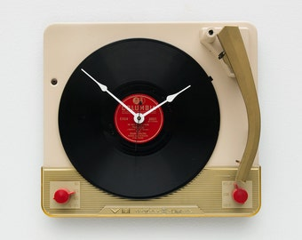 Recycled Voice Of Music Record Player Clock