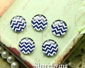 20% OFF SALE - 10mm Glass Cabochon, 8mm 12mm 14mm 16mm 20mm 25mm 30mm Round chevron  glass Dome - BCH243L