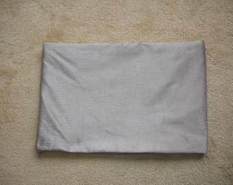 "For Ulrika - 23""x17"" Pillow Cover To Fit Tempur Pedic Pillow Lumbar Bolster Oblong Cushion Case Sham Slip Pillowcase Grey Velvet Gray NEW"