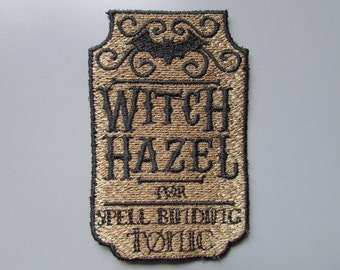 Witch Hazel Apothecary Label Embroidered Patch Applique