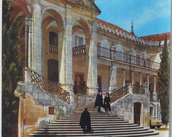 Portugal Travel Poster, 1960s European Souvenir, Original Vintage Poster, Coimbra Portugal, Retro Photograph, Wall Hanging, Vintage Ephemera