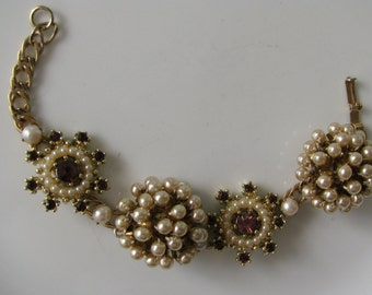 Assemblage Vintage Bracelet Repurposed Bracelet Recycled Bracelet Assemblage Jewelry Vintage Jewelry