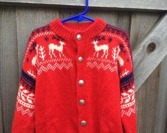 Vintage Norwegian Sweater Girls 5/6