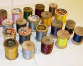 Vintage Wood Thread Spools - 20