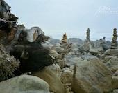 Oregon beach photo, zen rock photo, stone stacking, rock stack photo, stacked stones, zen stone stack, stacked stone art, beach stone photo