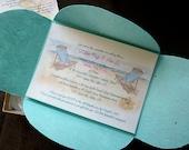 Beach Chairs wedding  Invitations, invites, bridal shower, seaside wedding