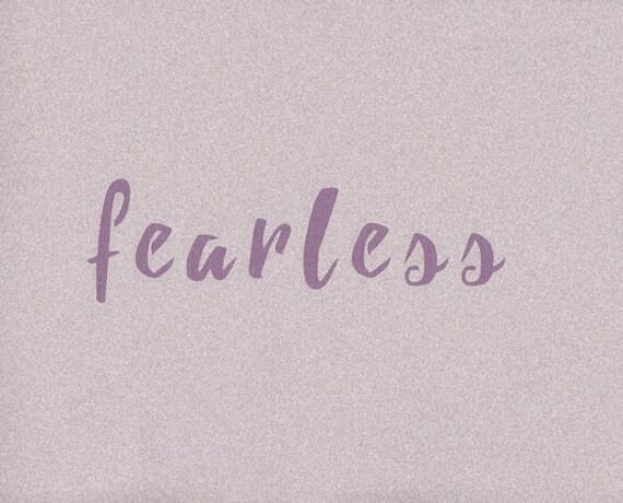 Fearless Stencil Word Stencil Mylar Stencil Painting