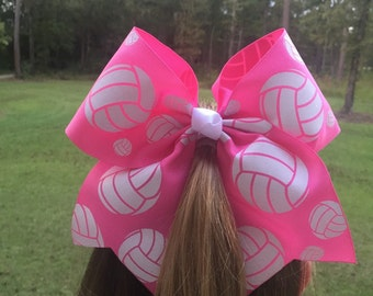 Special Order for Rainbowgrl Volleyball Hair Bow Pink Volleyball Breast Cancer Support Bow