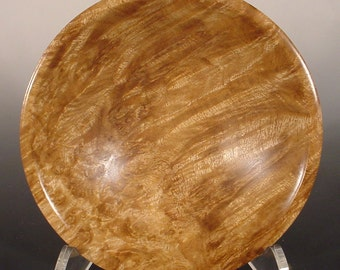 Golden Himalayan Teak Burl Bowl Turned Wood Bowl Number 6166