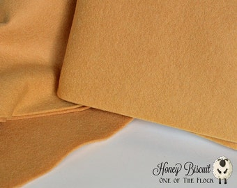 Fat Quarter, Honey Biscuit Wool Felt, 100% Virgin Wool Felt, Wool Felt Fabric, Wool Felt Sheets, Wool Felt Squares, Natural Wool Fabric