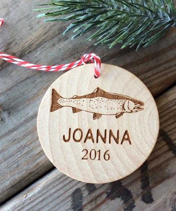 Fish Ornament, Fishing Ornament, Personalized Fishing Ornament
