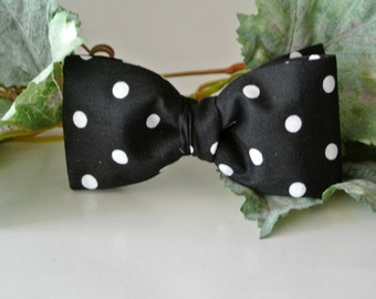 Men's Black Cotton Bow Tie , Mens Fashion Tie ,  Menswear , Gift for Dad , Stocking Stuffer for Him , Fathers Day