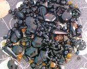 Beady Eyed Black...Box of Aged Old Beads