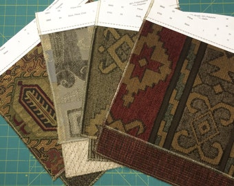 Upholstery fabric samples - prints and solids qty 24