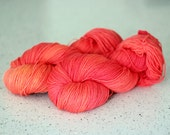 PEACHY KEEN, blue label hand dyed sock yarn