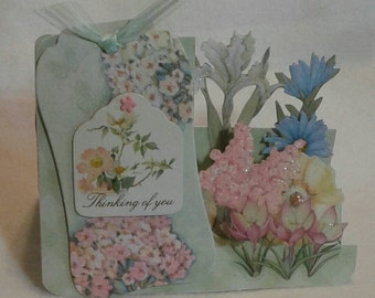 Sidestep Floral Thinking of You Handmade Card