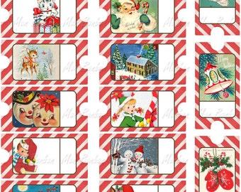 Printable Christmas Tags and Tickets - DIY Print at Home Christmas Tags - Christmas Printable -