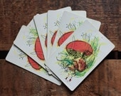 Vintage Kitsch Watercolor Style Mushroom Playing Cards - Set of 6