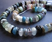 Mixed semiprecious gemstone strand - Orphan bead strand - 13 1/2 inches